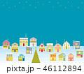 街並み クリスマス 星のイラスト 46112894
