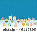 街並み クリスマス 星のイラスト 46112895