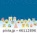 街並み クリスマス 星のイラスト 46112896