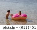 海 カップル 男性の写真 46113401