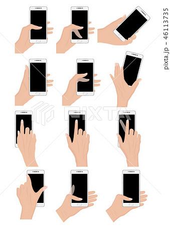 スマートフォンを持つ手各種 46113735