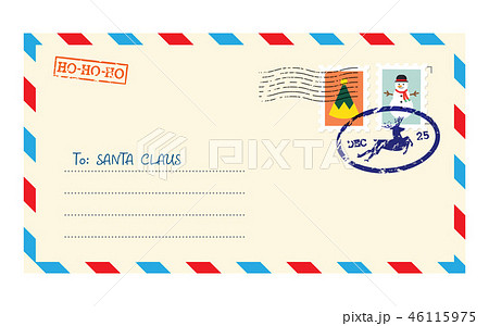 Christmas envelope for letter to Santa Claus 46115975