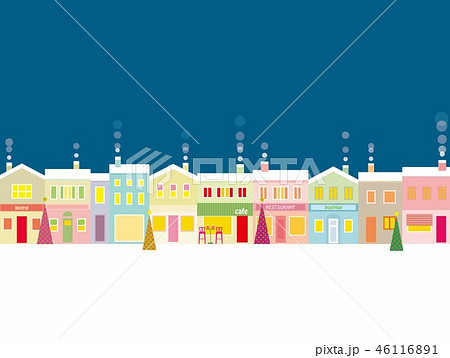 街並み クリスマス 夜 46116891