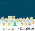 街並み クリスマス 星のイラスト 46116919
