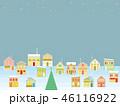 街並み クリスマス 星のイラスト 46116922