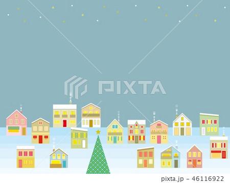 街並み クリスマス 星 46116922