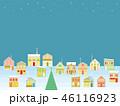 街並み クリスマス 星のイラスト 46116923