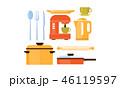 キッチン 台所 カトラリーのイラスト 46119597