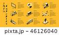 配達 企業 インフォグラフィックのイラスト 46126040