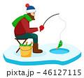 釣り人 釣人 釣りのイラスト 46127115