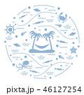 島 浮かぶ島 椰子の木のイラスト 46127254