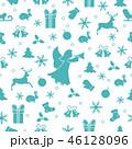 クリスマス シームレス エンジェルのイラスト 46128096