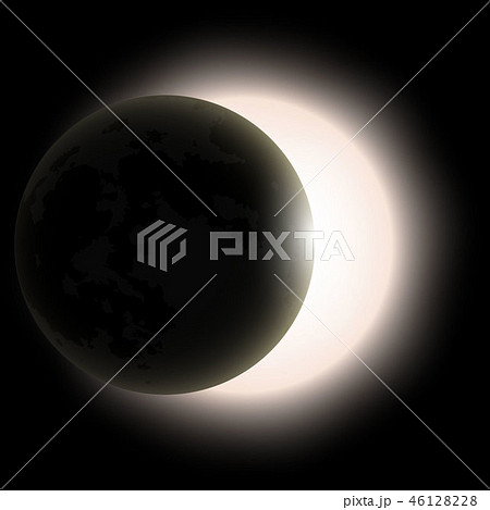 total solar eclipse, eclipse of the sun 46128228