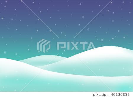 雪山と雪のイラスト素材 46130852 Pixta