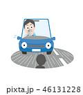 よそ見 よそ見運転 スマホのイラスト 46131228