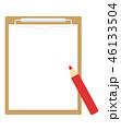 バインダーと赤鉛筆 46133504