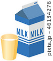 牛乳のイメージイラスト 46134276