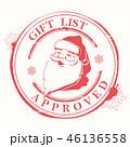 クリスマス サンタクロース スタンプのイラスト 46136558