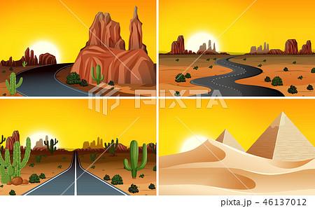 Set of desert landscape 46137012