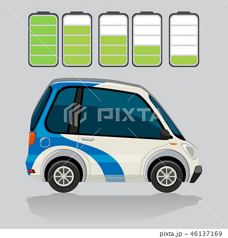 Electric car and battery levels 46137169