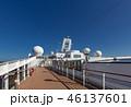 客船 豪華客船 デッキの写真 46137601