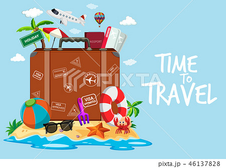 Time to travel template 46137828