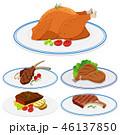 食 料理 食べ物のイラスト 46137850