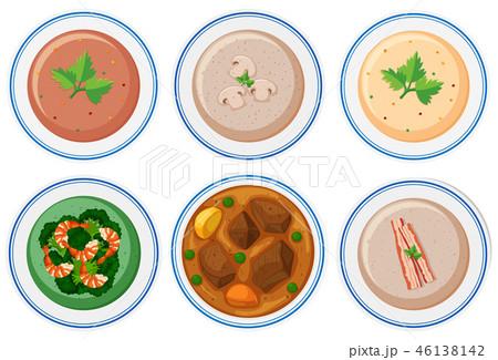 Set of healthy food 46138142