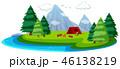 漫画 島 キャンプのイラスト 46138219