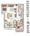 家の内面図(文字あり) 46138454