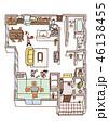 家の内面図(人物あり) 46138455