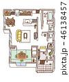 家の内面図(こたつあり) 46138457