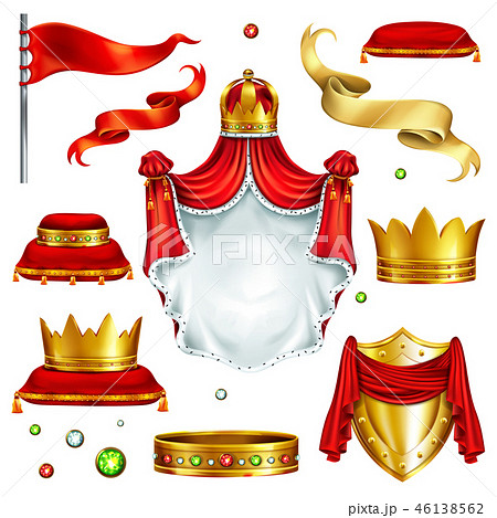 Royal attributes and symbols realistic vector set 46138562
