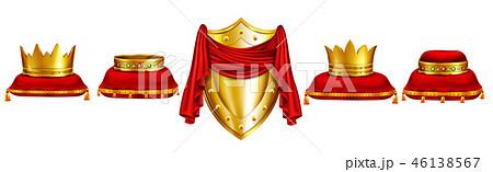 Monarch coronation ceremony attributes vector set 46138567