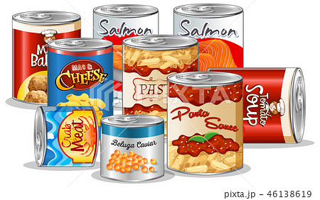 Set of canned food 46138619