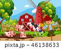 農場 ベクタ ベクターのイラスト 46138633