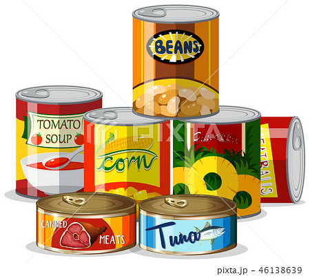 Set of canned food 46138639
