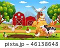 農園 ベクタ ベクターのイラスト 46138648