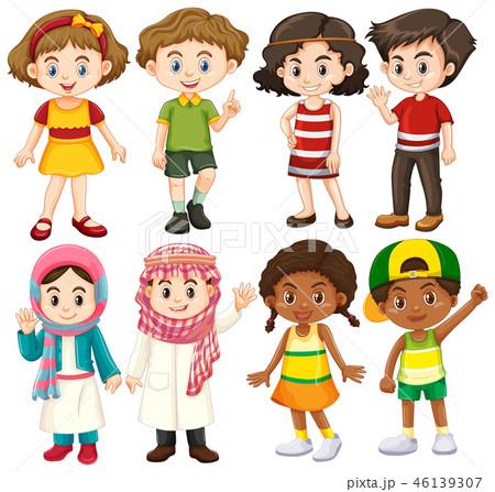 Group of international children character 46139307