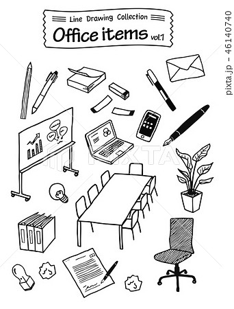 Office items 1 -Line Drawing Collection- 46140740