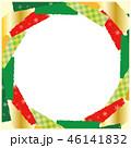 クリスマスカラー 雪 フレームのイラスト 46141832