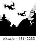 上空を飛ぶオスプレイ 46142233