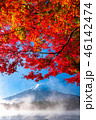 富士山 紅葉 秋の写真 46142474