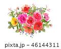 花 薔薇 水彩のイラスト 46144311