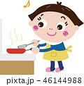 女性 料理 家事のイラスト 46144988