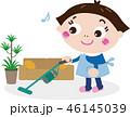 掃除 居間 女性のイラスト 46145039