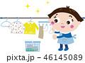 洗濯 洗濯物 干すのイラスト 46145089
