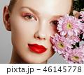 メイクアップ 化粧 お化粧の写真 46145778