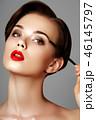 メイクアップ 化粧 お化粧の写真 46145797