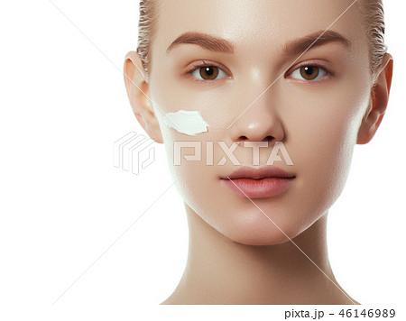 Joyful girl. Beauty, fashion model, Makeup. Body 46146989